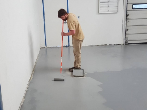 Mistakes were made… But, at least the floor is painted.